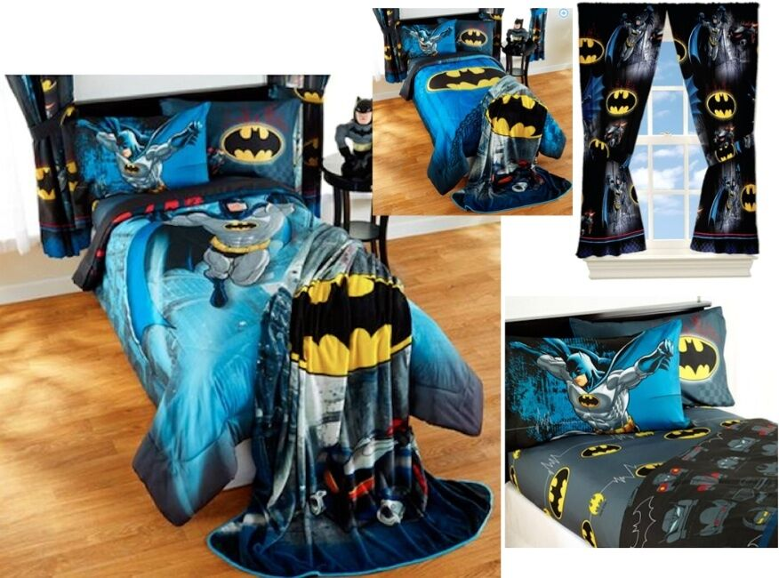Kids Boys Batman Bedding Bed In A Bag Comforter Set 3