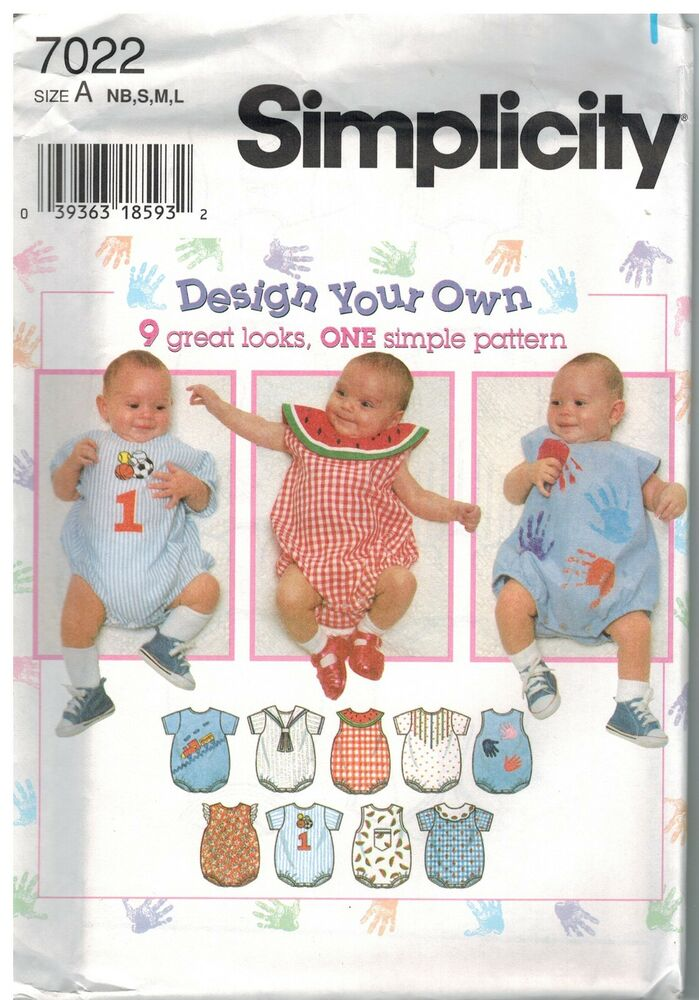 7022 Uncut Vintage Simplicity Sewing Pattern Baby Infant