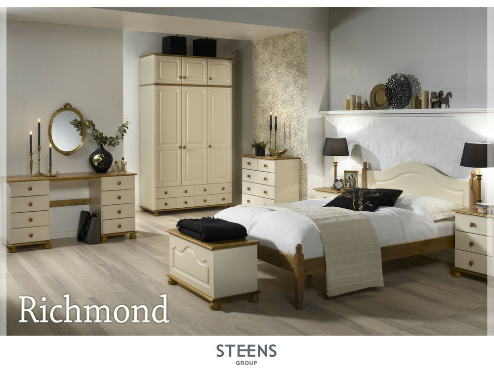 Richmond Cream And Pine Bedroom Furniture Wardrobes Chest Of Drawers Ebay