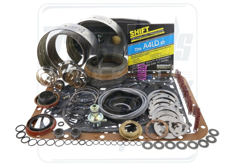 Ford A4ld Transmission Deluxe Rebuild Kit 1985  Bands Shift Kit Washers