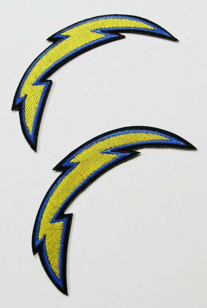 1 Lot Of 2 New Nfl San Diego Chargers Logo Embroidered