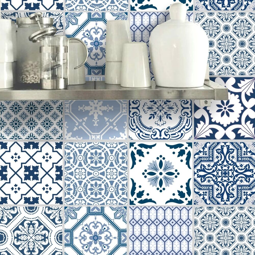 Wall Tile Sticker Kitchen Bathroom Decorative Decal : Patchwork ...