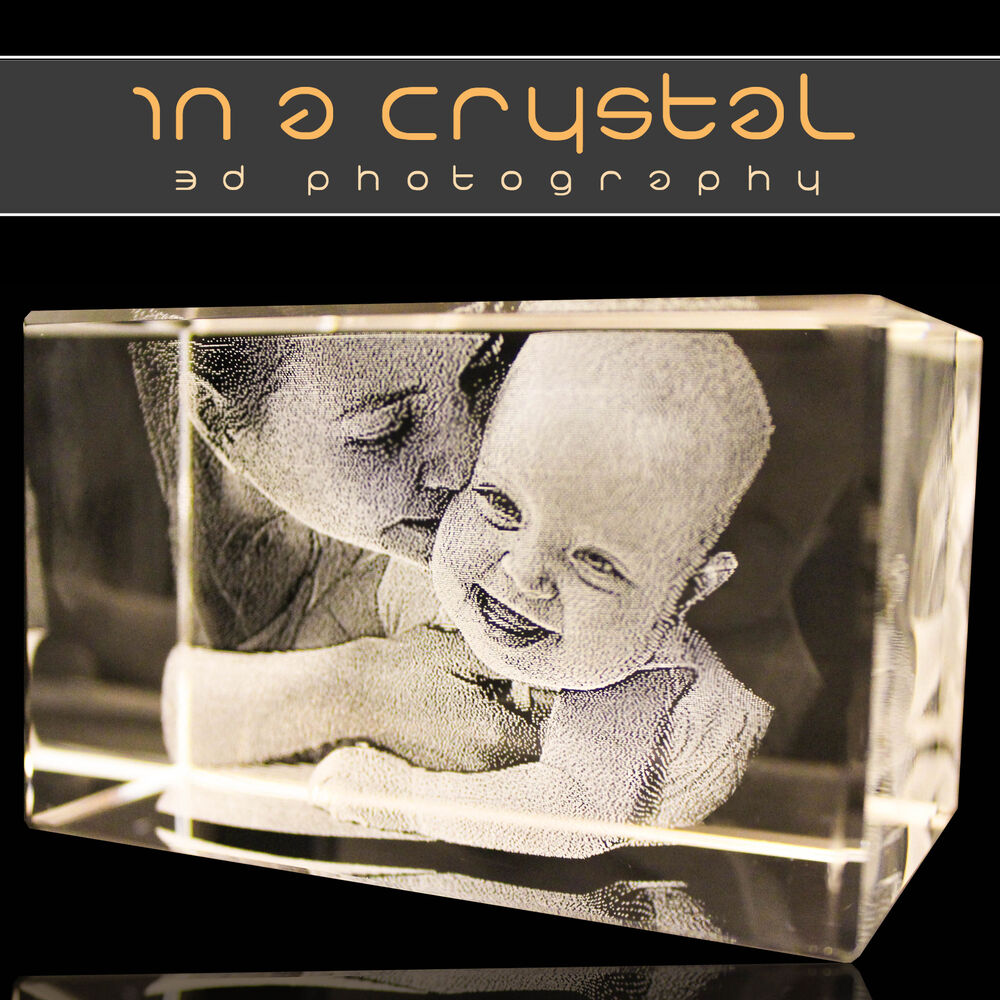 PERSONALISED 3D LASER ENGRAVED CRYSTAL // YOUR PHOTO
