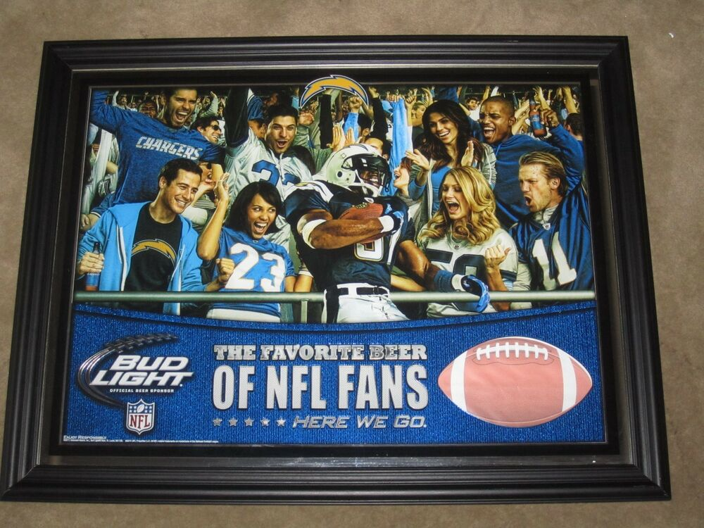 Man Cave Mirror Signs : New bud light san diego chargers nfl football beer mirror