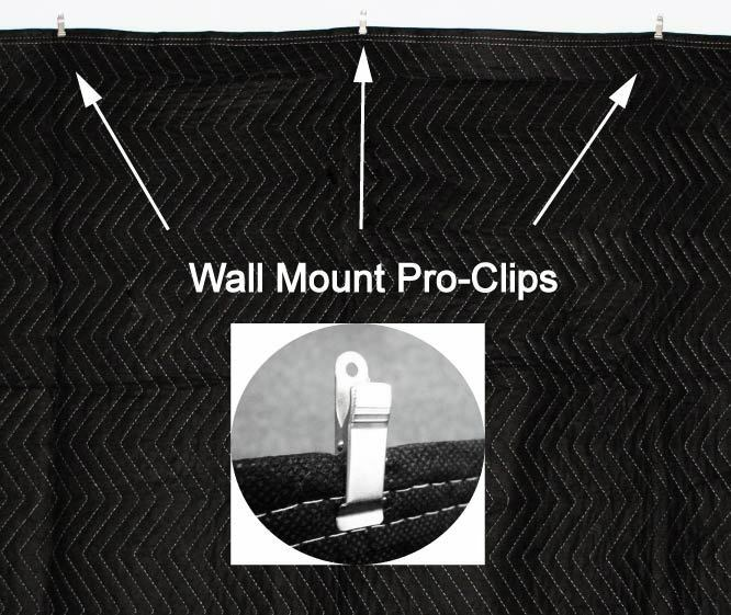 Fireproof Sound Absorbing Blanket : Acoustic sound proof absorption blanket with pro clips ebay