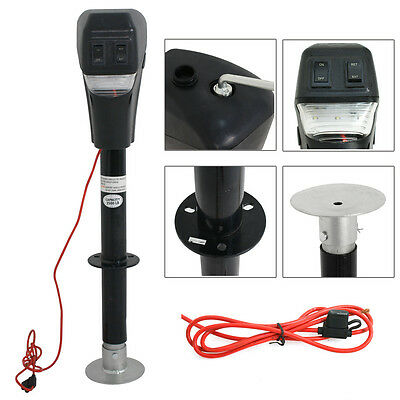 Electric Power Lift Tongue Jack 12V 3500lbs Camper RV Trailer Level Adjustable