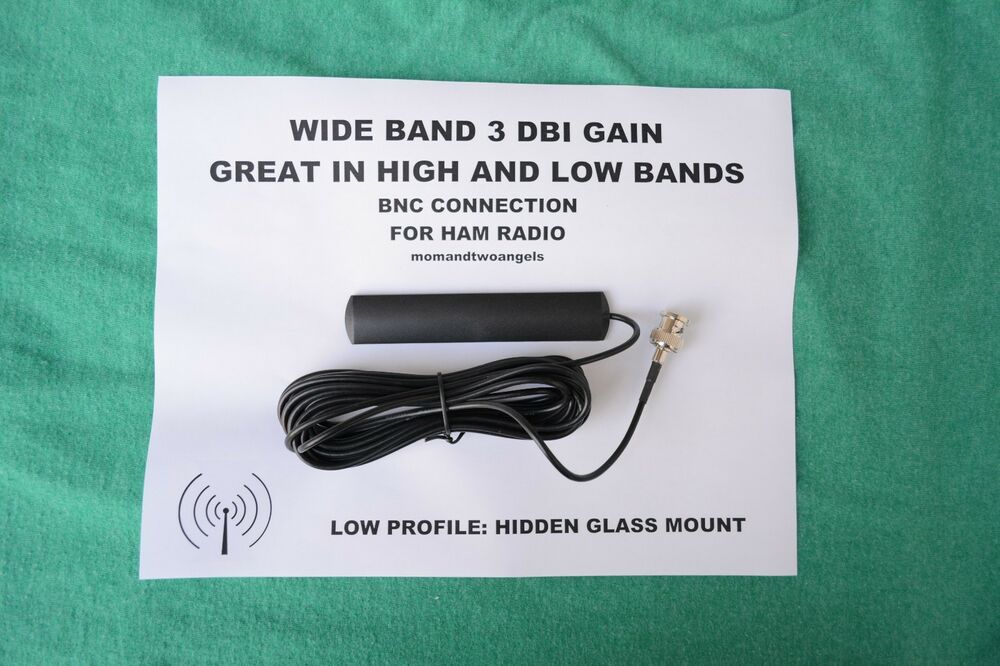 HIDDEN GLASS WINDOW MOUNT BNC ANTENNA FOR HAM RADIO- SCANNER DIGITAL ...