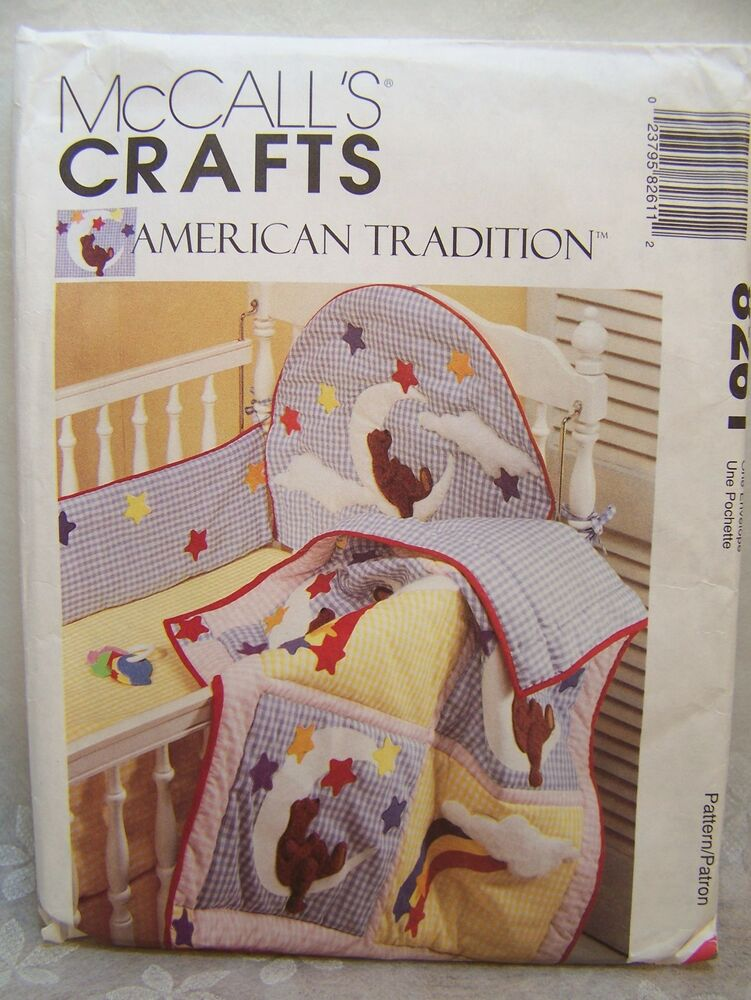 Sewing Pattern Mccall 8261 Baby Room Decor Pillow Crib