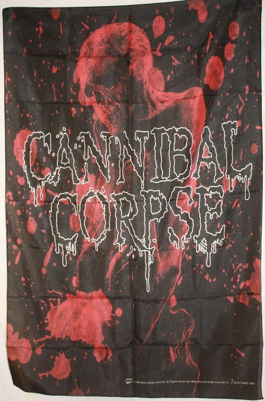 Cannibal Corpse Blood Skull Cloth Poster Flag Fabric