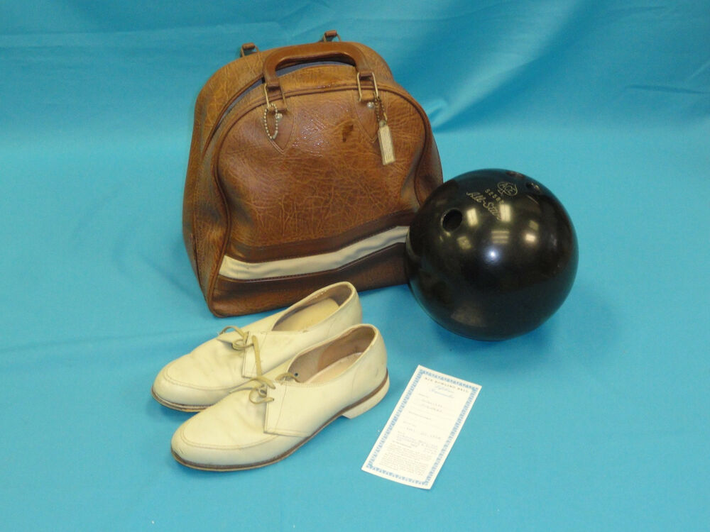 Vintage 1964 Ace Bowling Ball Carrying Ball Bag Amp Shoes