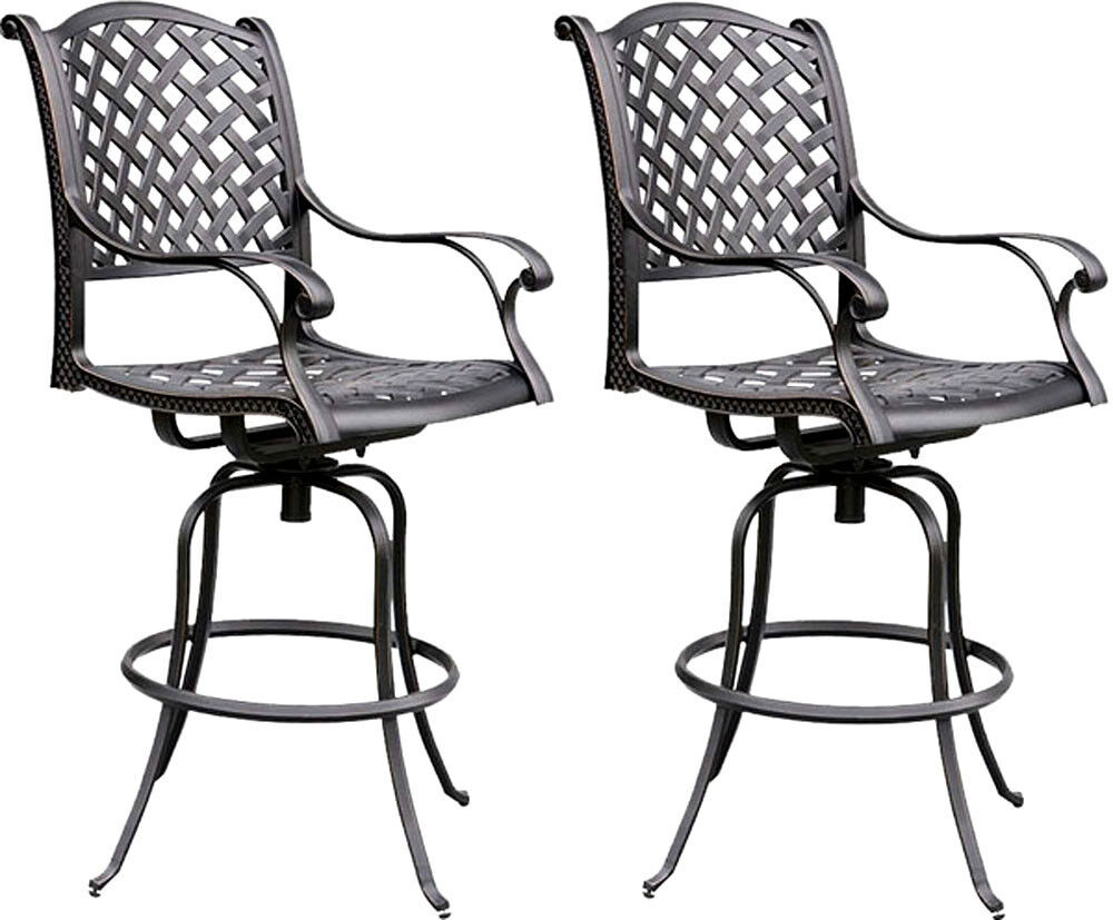 Patio Bar Stools Outdoor Living Cast Aluminum Furniture