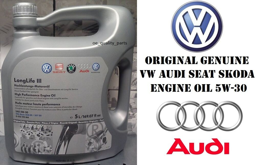 original genuine vw audi seat skoda engine oil 5w30. Black Bedroom Furniture Sets. Home Design Ideas