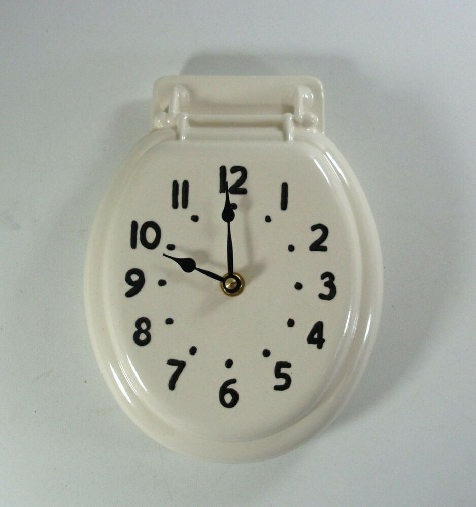 Johnny Clock Toilet Seat Wall Clock Made to Order Vintage ...