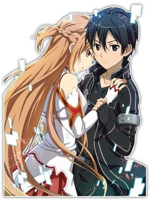 Sword Art Online Asuna Kirito Anime JDM Car Decal Sticker ...