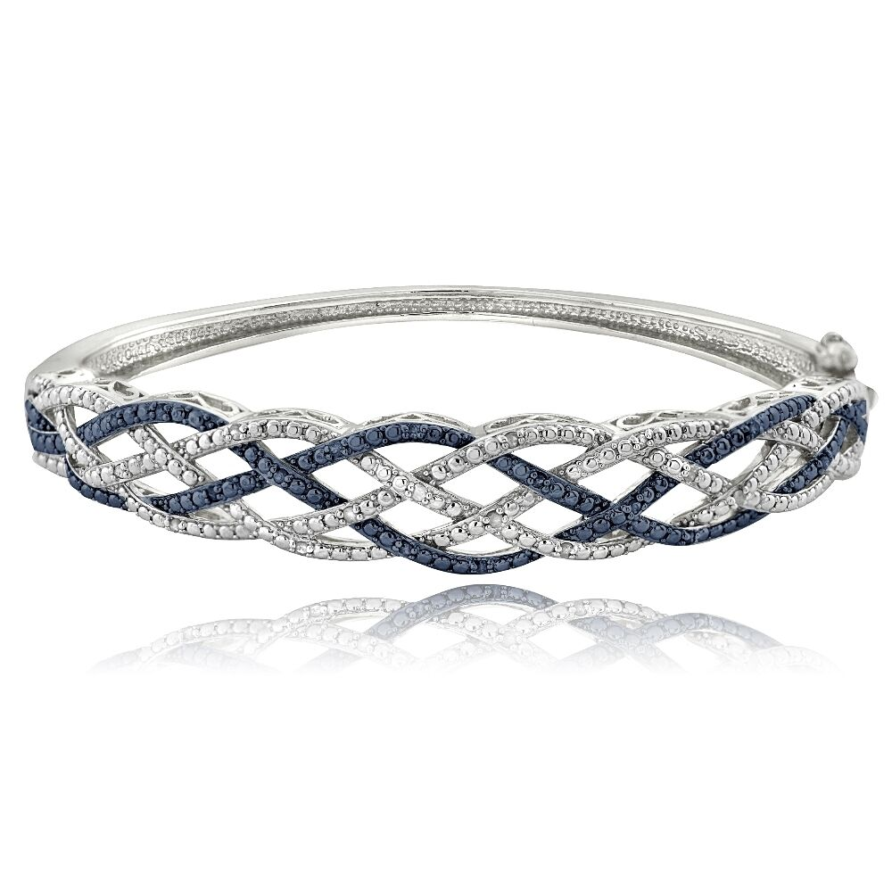 14 Ct Blue & White Diamond Weave Bangle Bracelet  Ebay. Mayor Engagement Rings. Mary Pendant. Three Stone Diamond Ring. Wood Grain Wedding Rings. Gold Plated Bracelet. Silver Engagement Rings. 14k Anklet. Gold Ankle