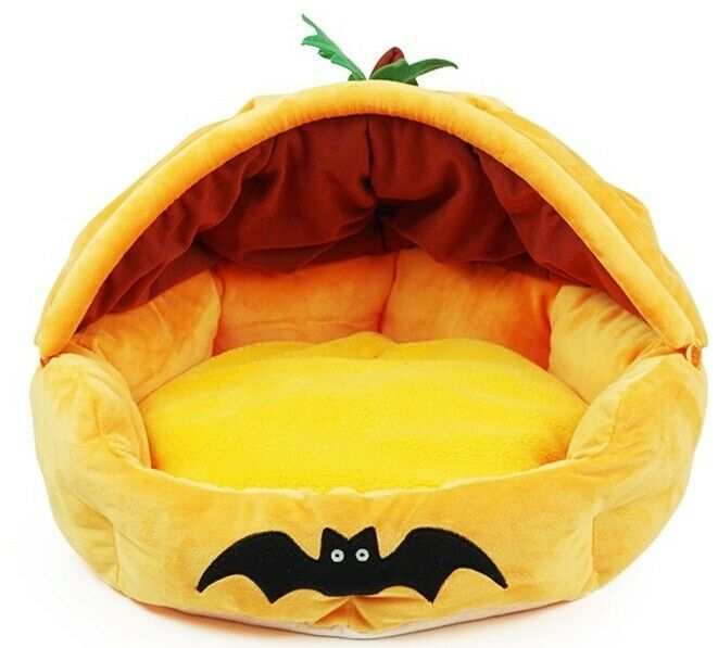 New Comfortabe Halloween Pumpkin Pet Dog Cat Bed House Ebay