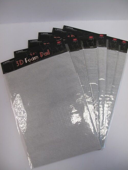 3d black foam pads double sided self adhesive 6 different sizes to choose ebay - Tavole adesive 3d prezzi ...