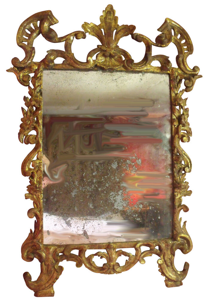 French Regence Early 18th Century Carved Gilt Mirror Ebay