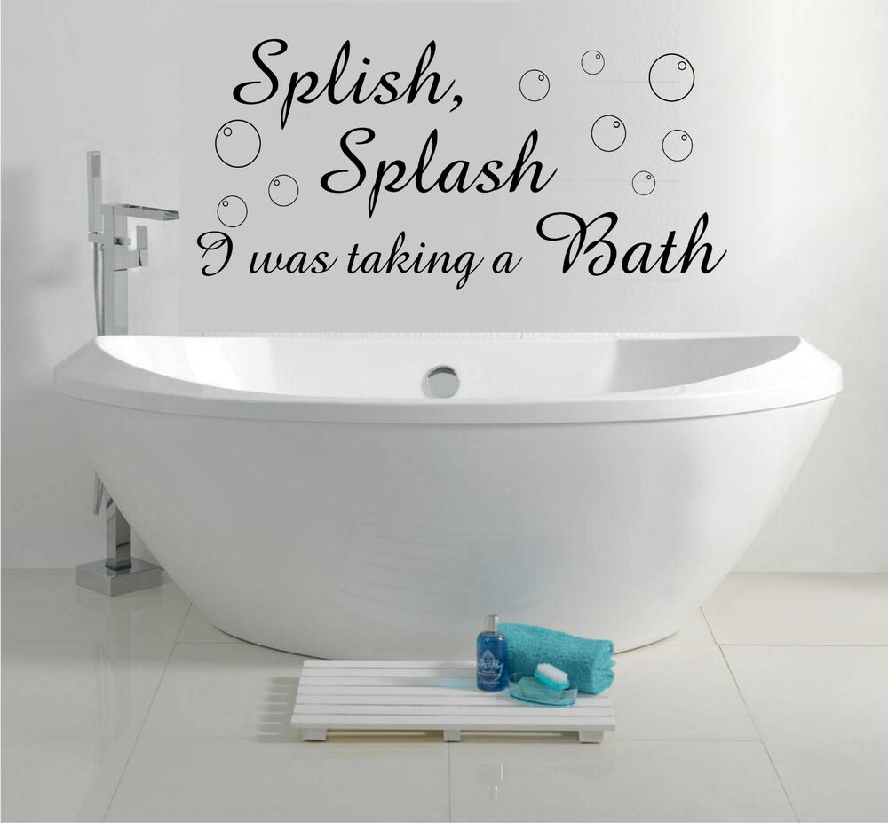 Bathroom Wall Art Bubbles : Splish splash bath bubbles bathroom shower wall art