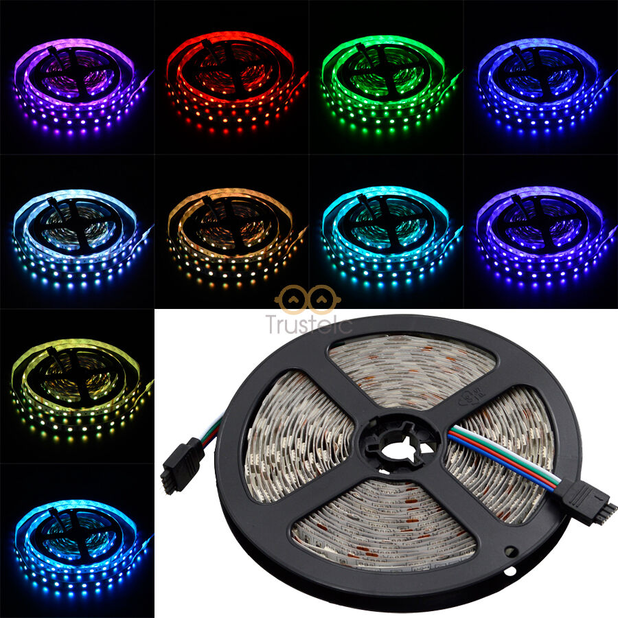 5m smd 5050 rgb led strip 300 leds light flexible 60 m 12v. Black Bedroom Furniture Sets. Home Design Ideas