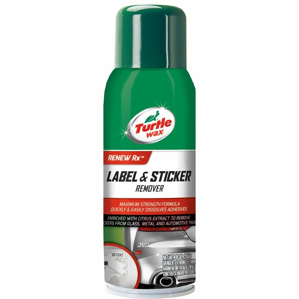 TURTLE WAX LABEL & STICKER REMOVER (10 OZ