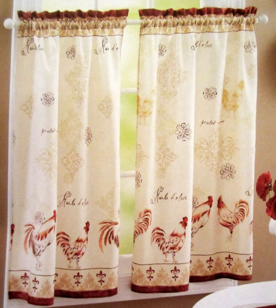 Better Homes And Gardens Kitchen Curtains Better Homes And Gardens  Provencal Roosters Kitchen