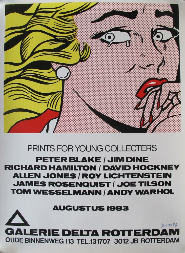 Roy lichtenstein extremely rare silkscreened exhibition for Poster roy lichtenstein