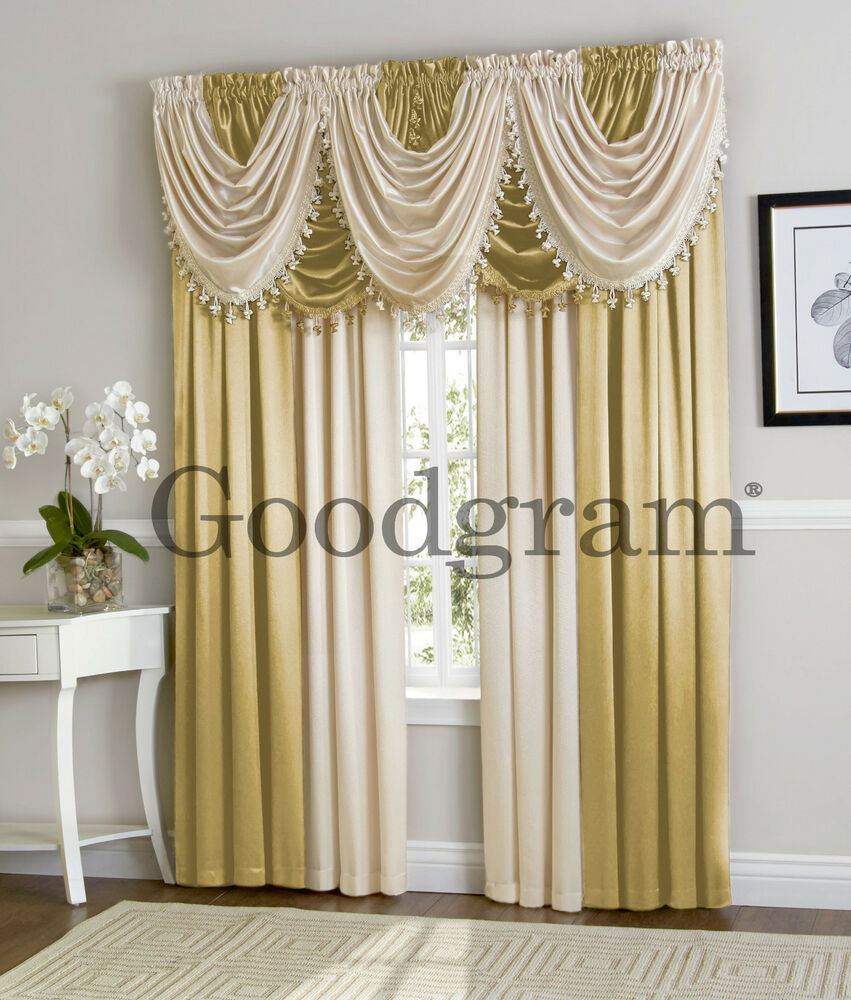Hyatt Extra Wide Curtain Set In Antique Gold Amp Candlelight