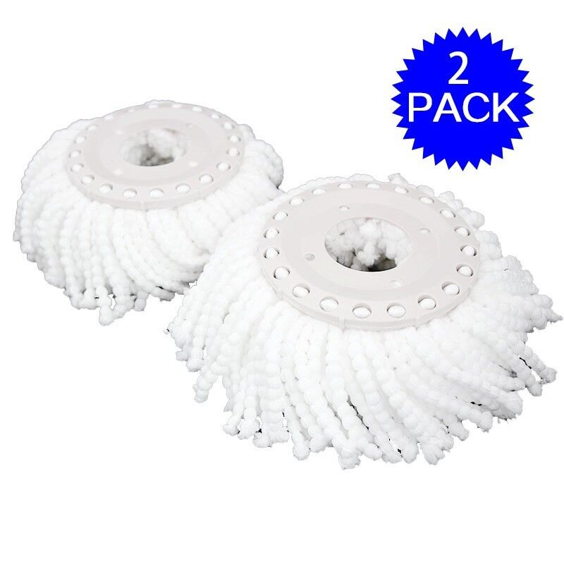 Lot Of 2 Replacement Mop Micro Head Refill For 360 176 Spin