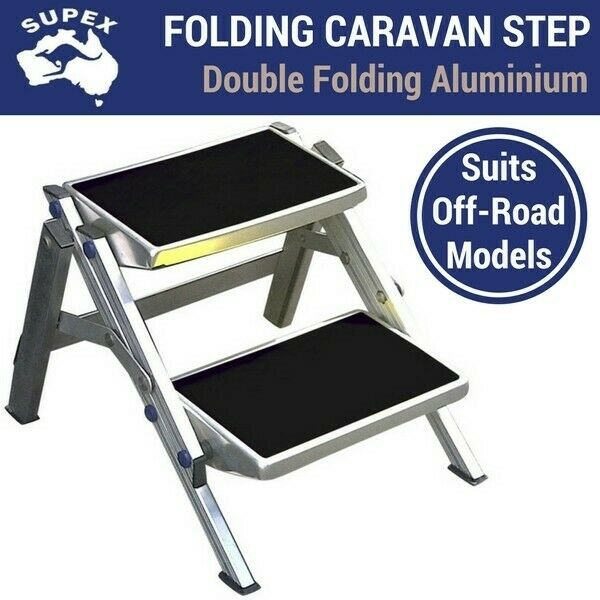 Aluminium Double Folding Caravan Step Camper Trailer