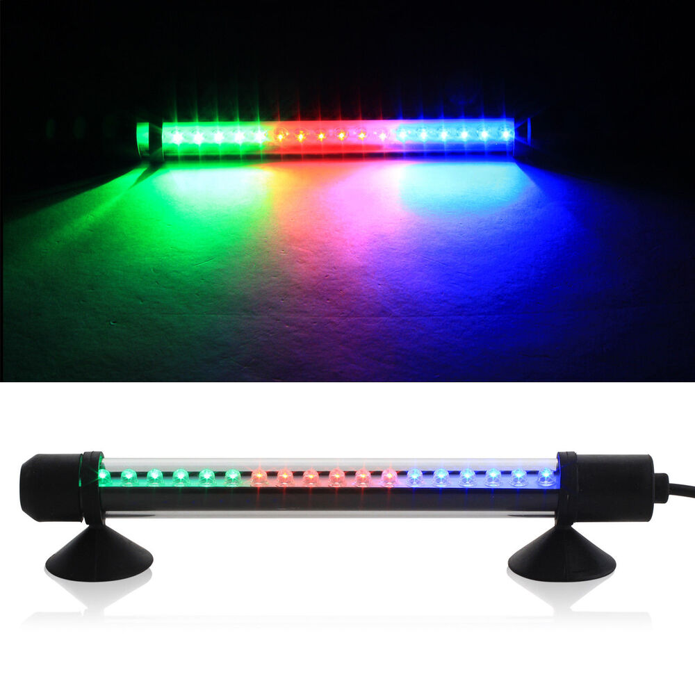rgb submersible aquarium light bar fish tank waterproof. Black Bedroom Furniture Sets. Home Design Ideas