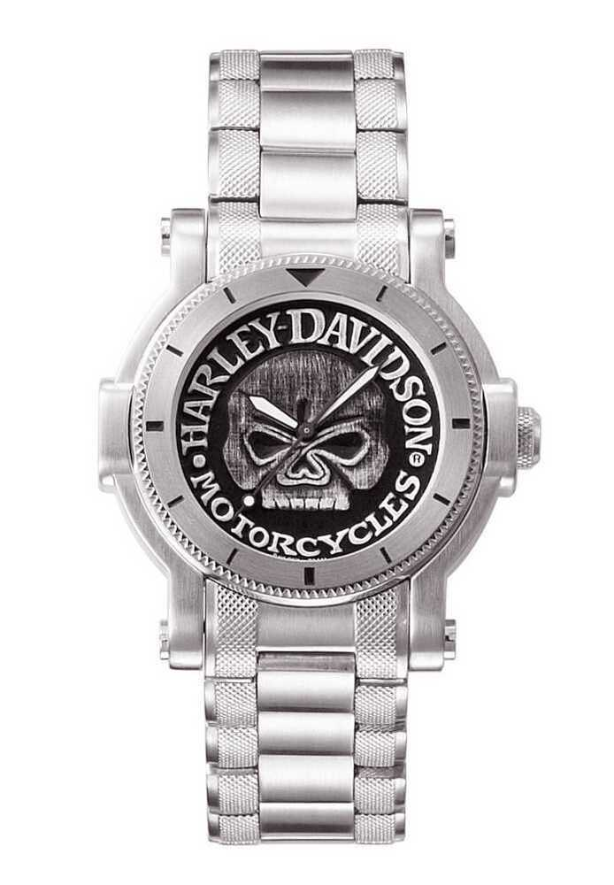 harley davidson men 39 s bulova willie g skull wrist watch 76a11 ebay