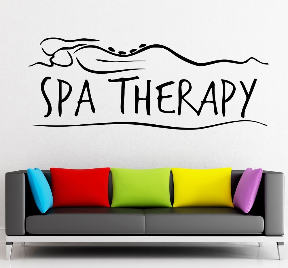 Wall stickers vinyl decal spa massage relax therapy girl for Stickers decorativos