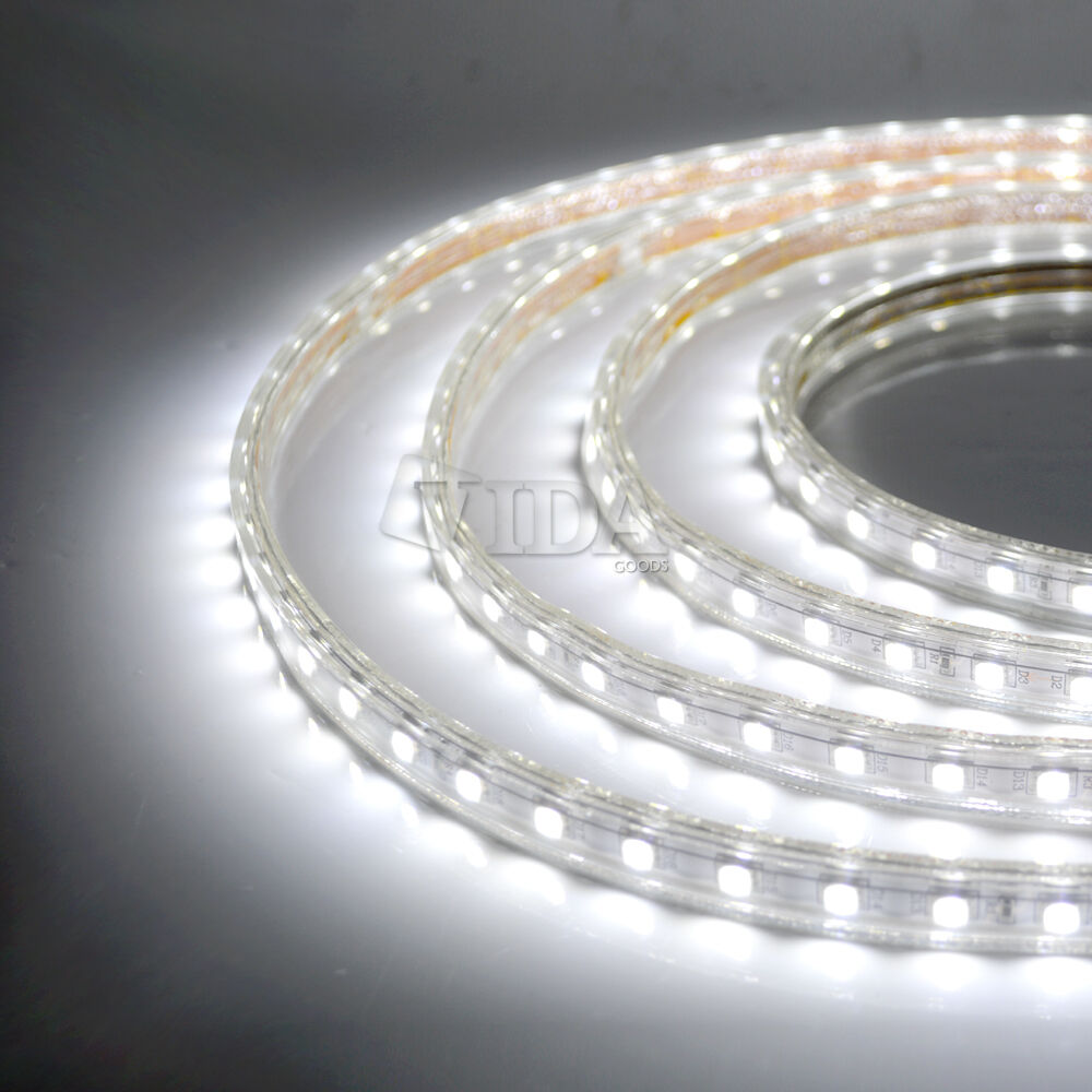 Half String Led Lights Out : Cool White SMD5050 120V High Power Flexible Flat LED Strip Rope Lights eBay
