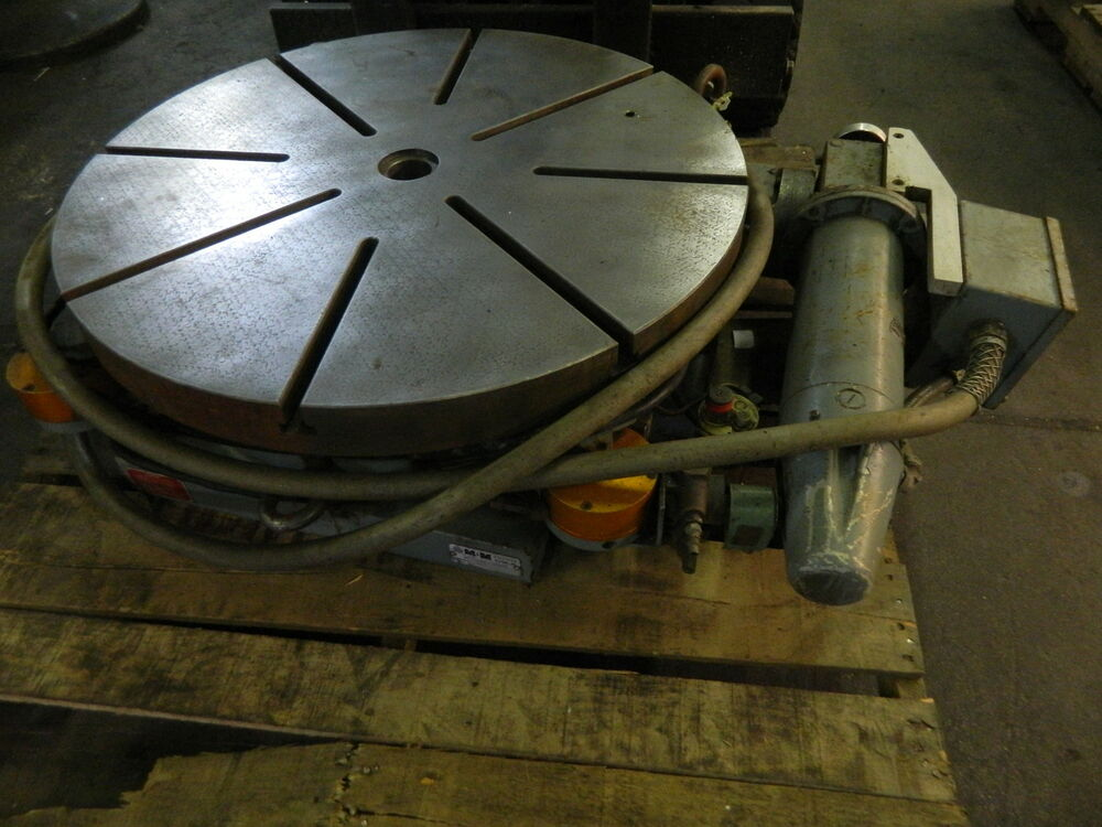 """Air Bearing Rotary Table 30"""" M&M Precision NC Rotary Table, Mod# MM 44 25 30 LEF, Used ..."""
