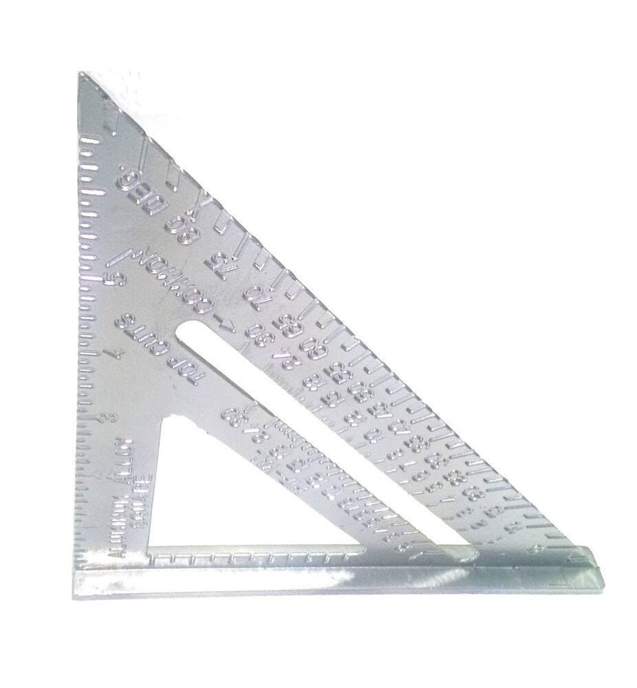 "7"" Aluminum Alloy Speed Square Use as Protractor Miter ..."