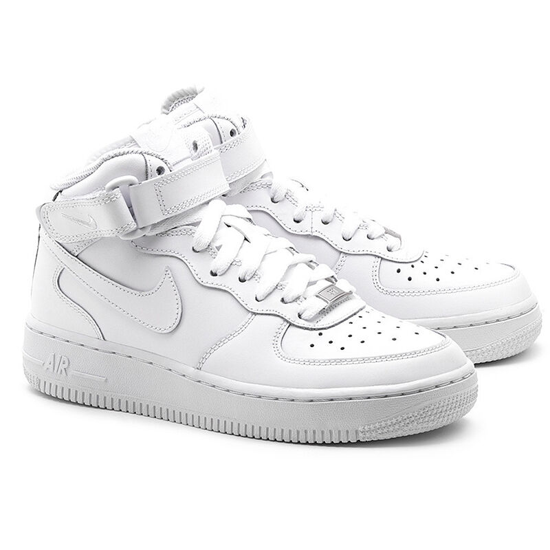 nike air force 1 mid schuhe herren weiss high top leder. Black Bedroom Furniture Sets. Home Design Ideas