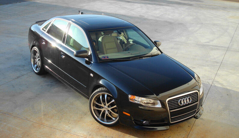 audi a4 b7 front lip splitter valance spoiler ebay. Black Bedroom Furniture Sets. Home Design Ideas