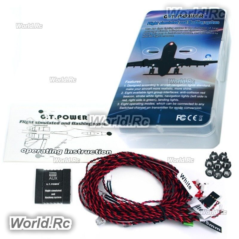 Gt Power Flight Simulated And Flashing Light System For Rc