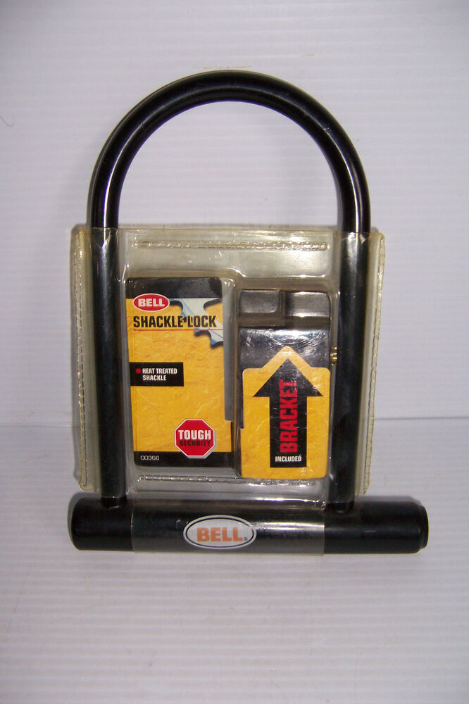 bell shackle lock bicycle bike security key u lock lock brand new ebay. Black Bedroom Furniture Sets. Home Design Ideas