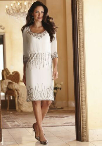 New Womens Size Large Off White Flame Dress By Midnight