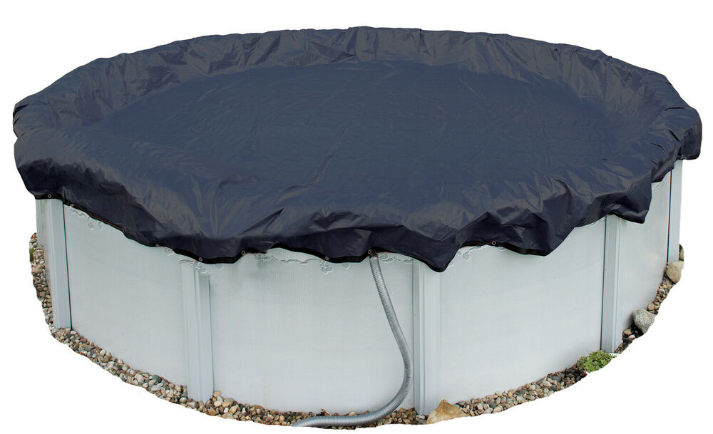 Winter pool cover above ground 33 ft round arctic armor 8 yr warranty ebay for Swimming pool winter cover clips