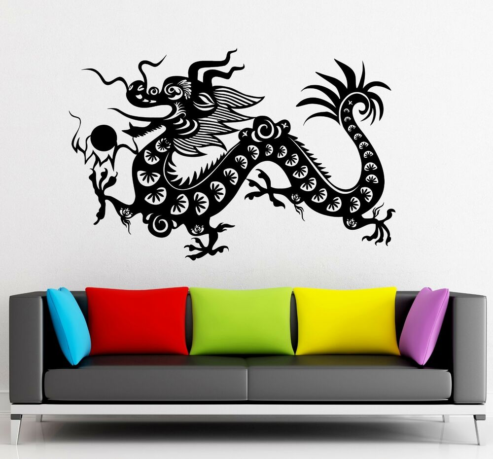Wall Stickers Vinyl Decal Chinese Dragon China Fantasy For