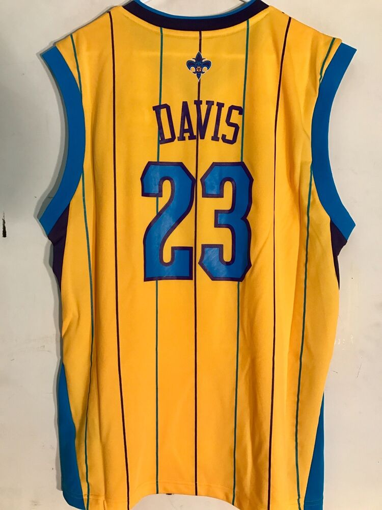 fca52b48b340 Details about Adidas NBA Jersey New Orleans Hornets Anthony Davis Gold sz L  PELICANS