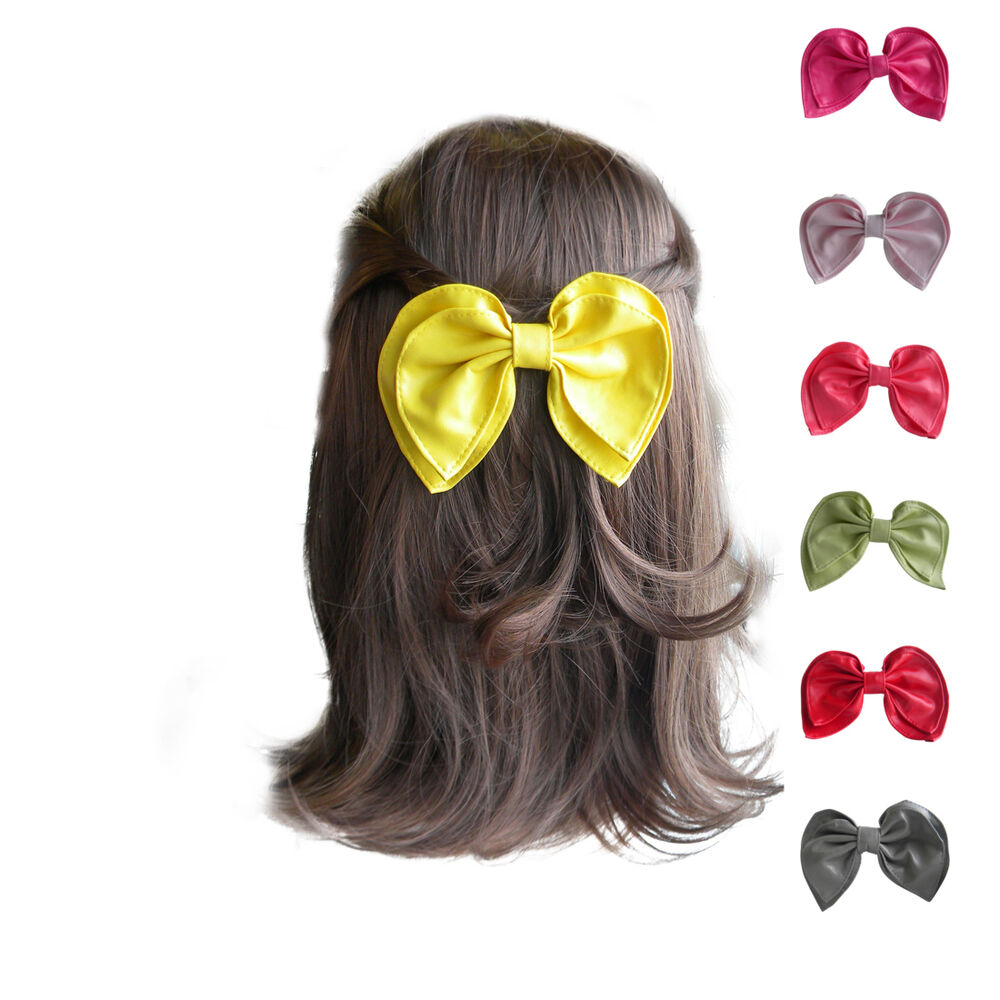 Girls Hair Bows Faux Leather Hair Accessories Great ...
