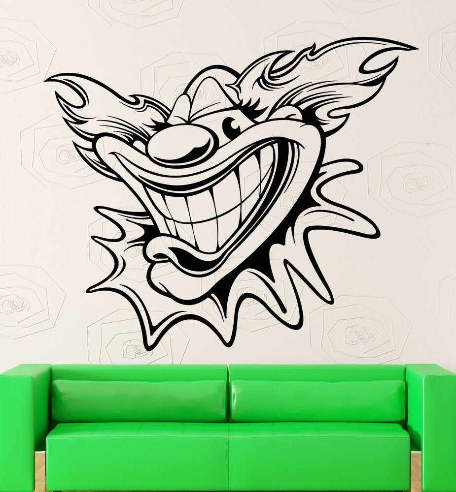 Wall Stickers Vinyl Decal Circus Clown Positive Decor For