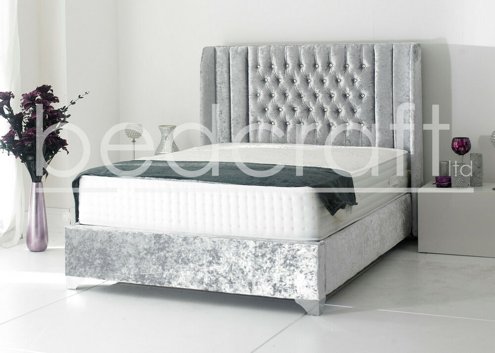 Wingback Oxford upholstered bed frame chesterfield style  : s l1000 from www.ebay.co.uk size 1000 x 714 jpeg 81kB