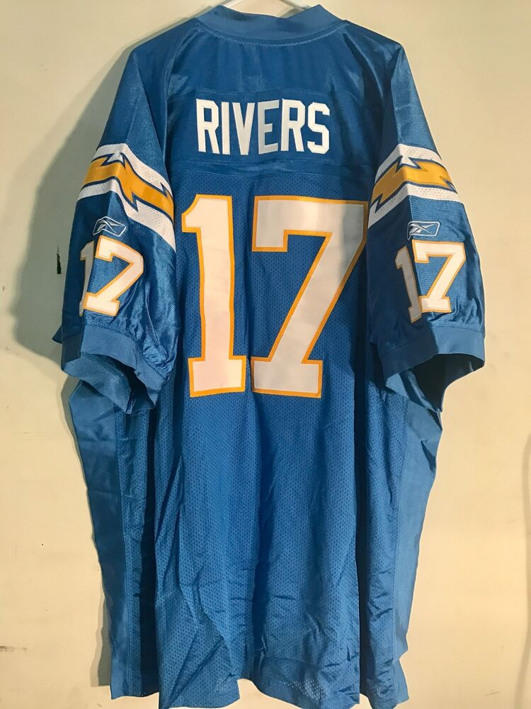 Reebok Authentic Nfl Jersey Chargers Rivers Light Blue