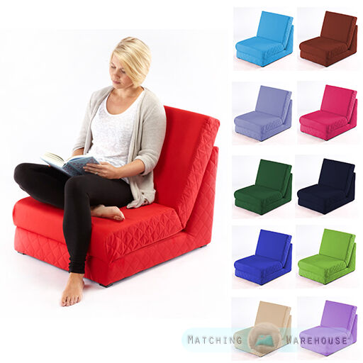 folding z bed single chair bed 1 seater sofa fold out guest beds mattress futon ebay. Black Bedroom Furniture Sets. Home Design Ideas