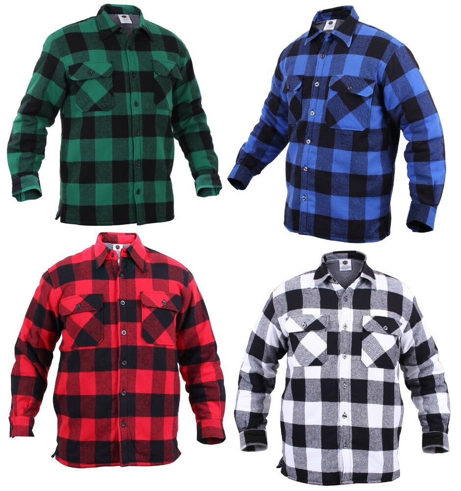 Men 39 S Extra Heavyweight Sherpa Lined Buffalo Plaid Warm